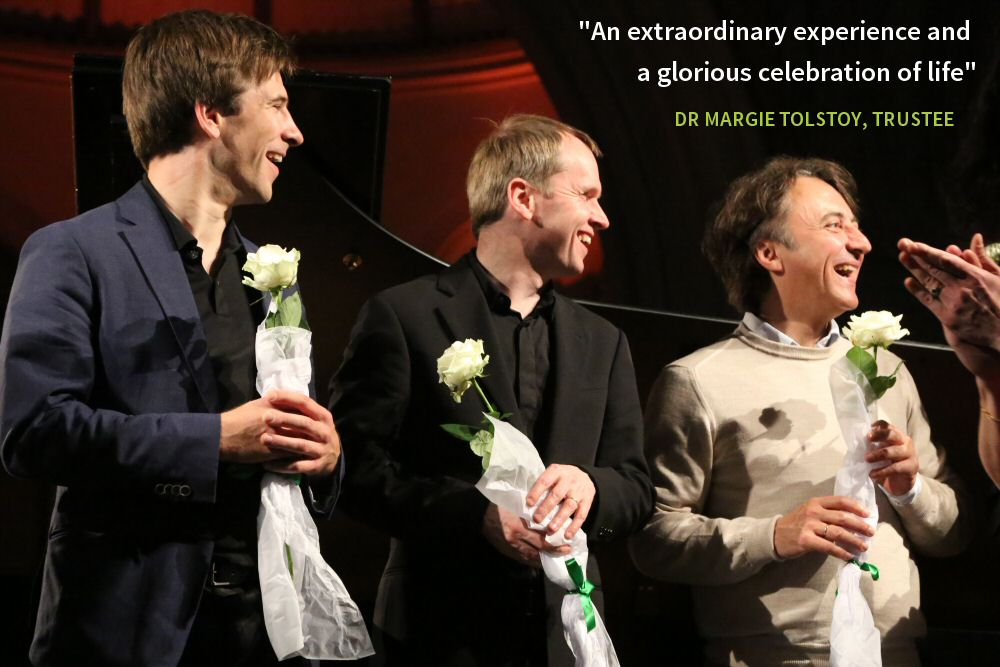 """An extraordinary experience and a glorious celebration of life"" - DR MARGIE TOLSTOY, TRUSTEE"